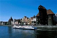 Poland, Gdansk, quays of the Motlawa River, medieval port crane (thumbnail)