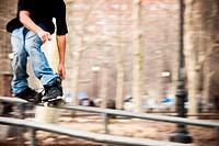 Inline skater on rail