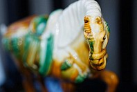 Close-up of a horse figurine