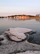 Winter morning at lake Mälaren, Sweden