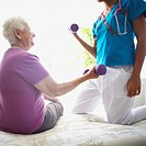 Physical Therapist Working with Senior Woman (thumbnail)