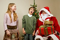 Children with Santa Claus