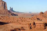 John Ford´s point. Monument Valley. Arizona / Utah. USA/ John Ford point. El Monument Valley se localiza en los limites de Arizona y Utah y forma part...