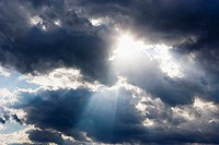 Sun rays reflect through clouds  Finland