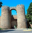St. Vincent´s town gate, Avila. Castilla-Leon, Spain