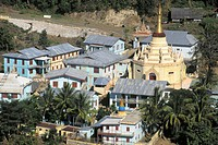 Myanmar (Burma), monastery at the foot of Mount Popa