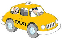 Taxi Guy Linda Braucht b 20th C /American Computer graphics