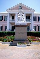 Bahamas, Nassau, Parliament Square, statue of Queen Victoria