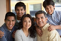 Portrait of Hispanic family