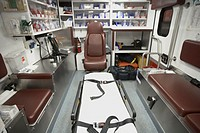 Back area of ambulance