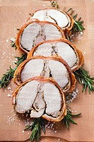 Porchetta with rosemary and pepper crust Italy