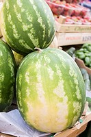 Watermelons at a market