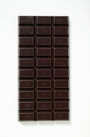 A bar of dark chocolate