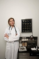 Doctor standing in office