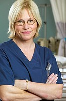 Female nurse in glasses