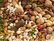 Many assorted nuts