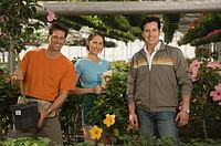 Men and woman gardening