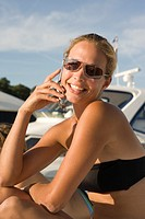 Woman on cellular phone