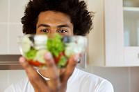 Man holding salad
