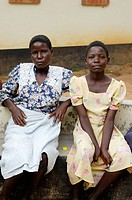 Two young women, actually teengers, pose at the Howard Hospital in northern Zimbabwe. The Hospital is operated by the Salvation Army. The two women ar...