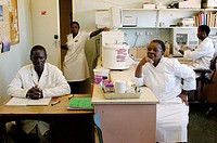 The Howard Hospital Laboratory staff are busy and use fairly modern lab equipment. This day the department is waiting for a Swedish donation of a new ...