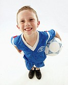 Portrait of a young soccer player