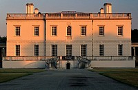 Facade of a building, Queen's House, Greenwich, London, England