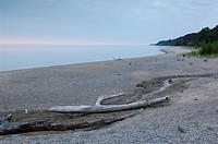 Huron, lake, shore, scenery, landscape, beach, seashore, Treibgut, Lake Huron, Bayfield, Ontario, Canada