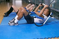 People training at the gym