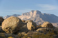 Rocks and Guadalupe Mountains