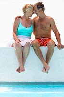 Senior Couple at Swimming Pool (thumbnail)