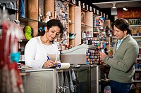 Clerk and Customer in Shop