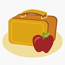 Apple with a lunch box