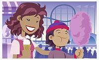 Girl holding an ice-cream cone