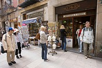 ´1748´ ceramics handicrafts store, Carrer Montcada, Barcelona, Spain