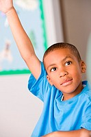 Boy raising arm (thumbnail)