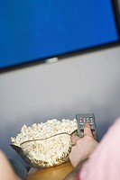 Channel Changer, popcorn and Plasma TV, B C
