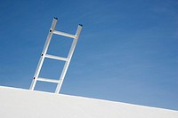 Wall with ladder and blue sky (thumbnail)