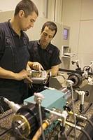 Test bench. Talleres MYL. Spindle manufacturing and repairing. Mendaro. Gipuzkoa, Euskadi, Spain