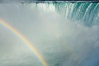 Horseshoe Falls and the American Falls and the Maid of the Mist at Niagara Falls, Ontario, Canada