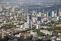 Look from the Baiyoke tower, topmost building of Thailand, Bangkok