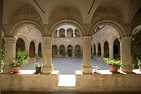 Cloisters, San Francesco Church, Alghero, Sardinia, Italy
