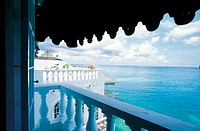 Jamaica, Blue Lagoon, view from a villa (thumbnail)
