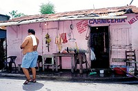 Domenican Republic, Sanchez village, local butcher (thumbnail)