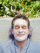 Man receiving facial