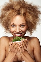 Woman with a fresh salad