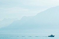 Switzerland, boat on Lake Geneva