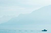 Switzerland, boat on Lake Geneva