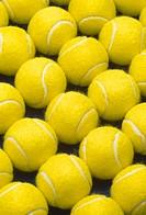 Tennis balls, full frame