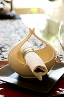 Dining Table Setting with Table Runner